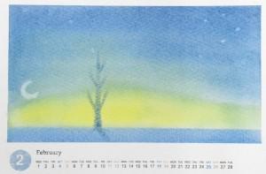 パステルアート,作品例,カレンダー