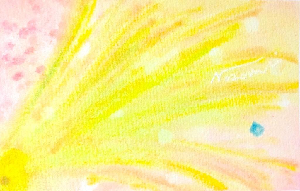 パステルアート,抽象画,花