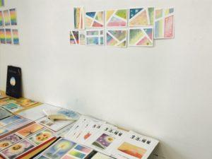 3色パステルアートの作品