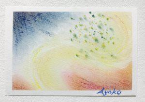 共感覚アート 3色パステルアート 五感