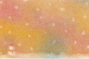 3色パステルアート冬12月の作品