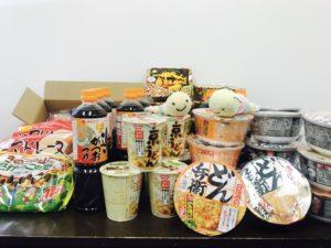 フードバンクへ提供した食材の写真