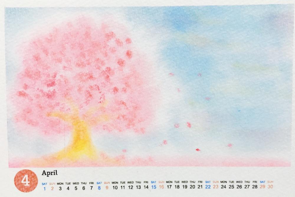 パステルアート春の桜
