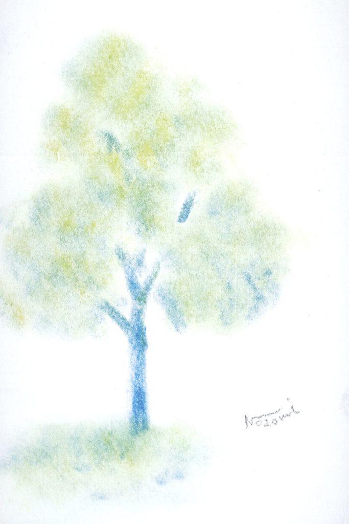 3色パステルアートの作品見本です。