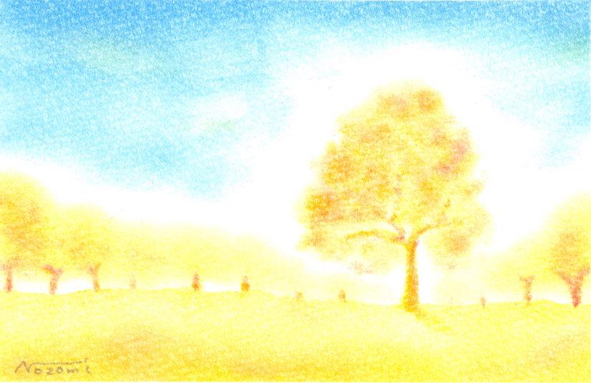 パステルアート銀杏並木
