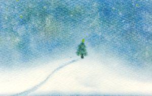 パステルアートクリスマスの作品1