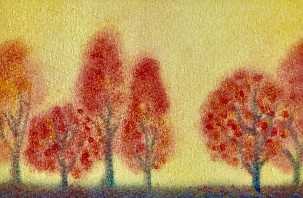 パステルアート紅葉の作品2