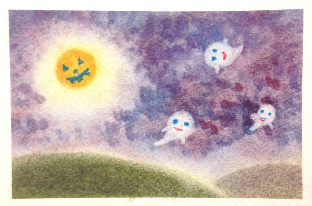 3色パステルアートハロウィンの作品5