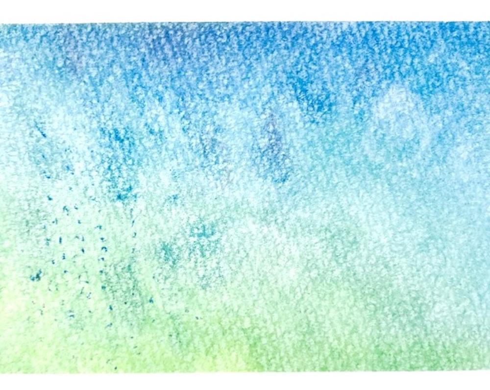 パステルアート秋の長雨