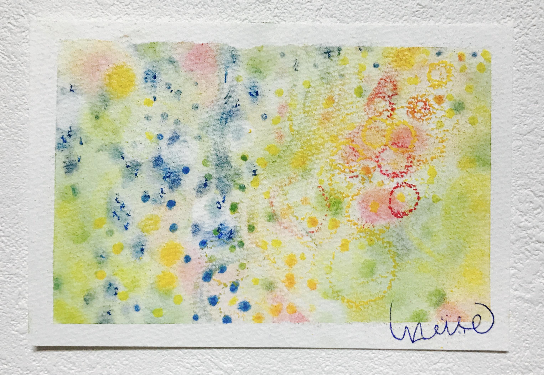 パステルアート,3色パステルアート,パステル画,共感覚,共感覚アート
