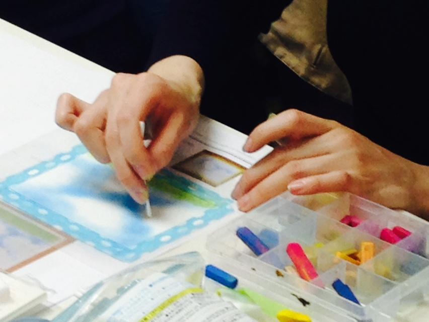 パステルアート,3色パステルアート,パステル画,共感覚,共感覚アート,五感,体験レッスン